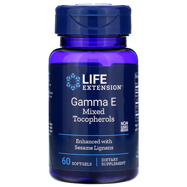Life Extension, Gamma E Mixed Tocopherols, 60 Softgels