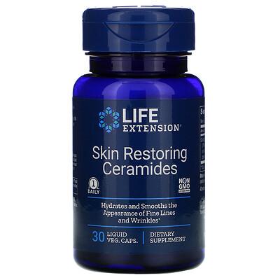 Купить Life Extension Керамиды для восстановления кожи, 30 жидких вегетарианских капсул