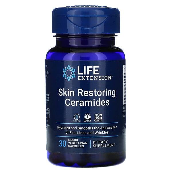 Ceramidas restauradoras de la piel, 30cápsulas vegetales líquidas