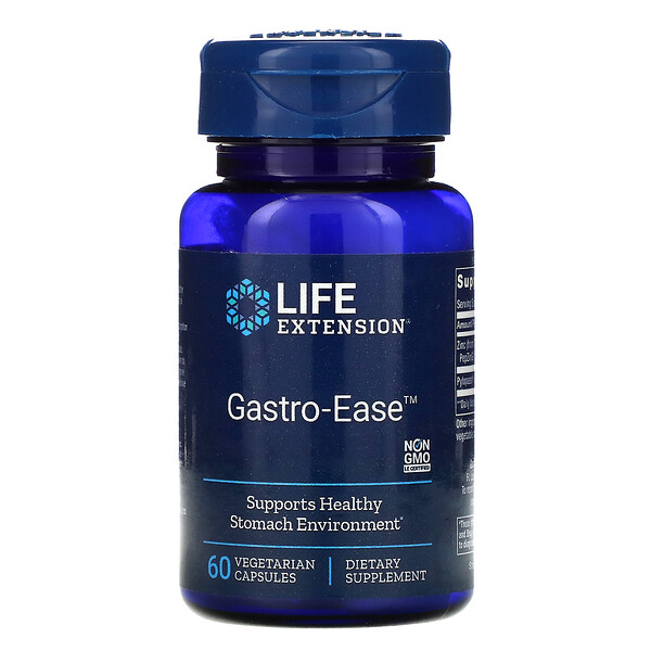 Life Extension, Gastro-Ease, 60 Vegetarian Capsules