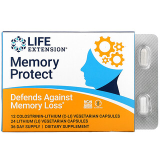 Life Extension, Memory Protect, 36 Vegetarian Capsules