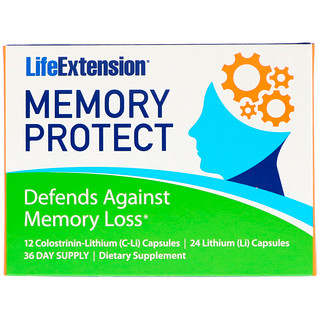 Life Extension, Memory Protect, 36 Capsules