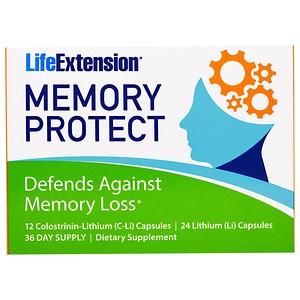 Life Extension, Защита памяти, 36 капсул инструкция, применение, состав, противопоказания