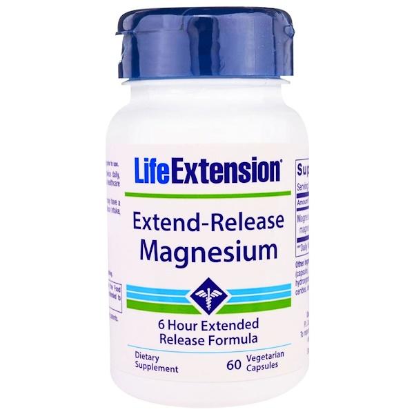 Life Extension, 緩釋鎂素食膠囊,60粒
