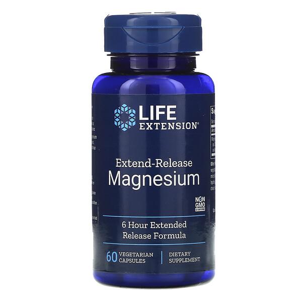 익스텐드 릴리스 마그네슘, 60 식물성 캡슐
