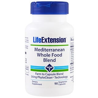 Life Extension, Mediterranean Whole Food Blend, 90 Veggie Caps