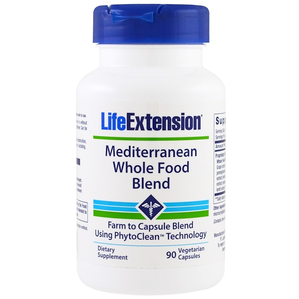 Life Extension, Mediterranean Whole Food Blend, 90 Veggie Caps (Discontinued Item)