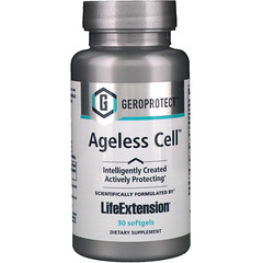 Life Extension, ゲロプロテクト、エイジレス セル、30ソフトジェル