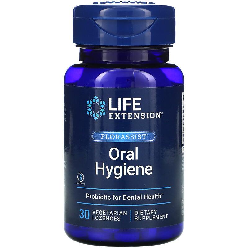 iHerb 日本美妝 補充品 Life Extension, LozengesFlorassist® 口腔衛生,30 片素食錠劑