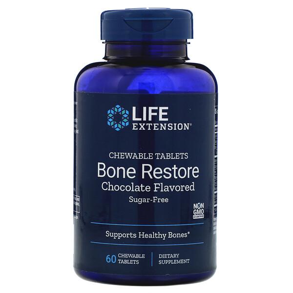 Bone Restore, Sugar-Free, Chocolate, 60 Chewable Tablets