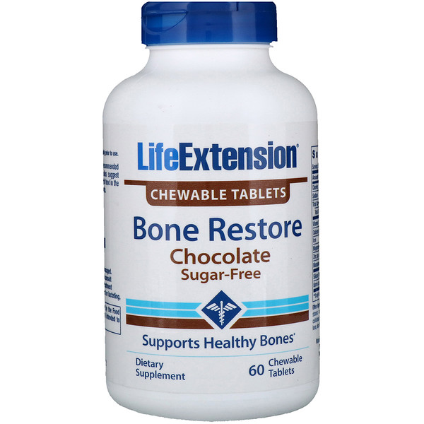 Life Extension, Bone Restore, Chocolate, 60 Chewable Tablets