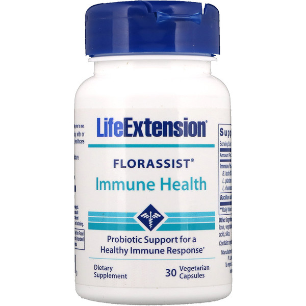 Life Extension, Florassist Immune Health, 30 Vegetarian Capsules