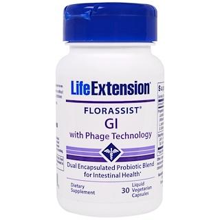 Life Extension, Florassist, Желудочно-кишечная  Противофаговая Технология, 30 Жидких Растительных капсул