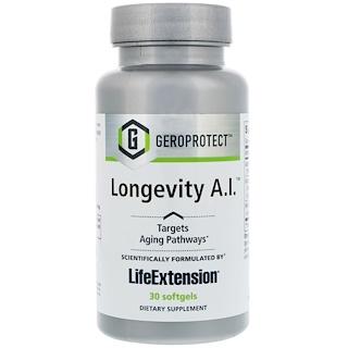 Life Extension, Geroprotect, Longevidad A.I., 30 cápsulas blandas
