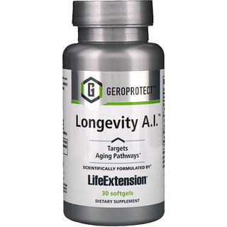 Life Extension, Geroprotect, Longevity A.I., 30 Softgels