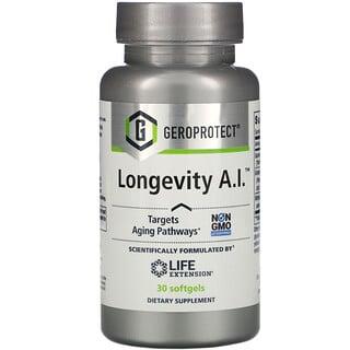 Life Extension, GEROPROTECT Longevity A.I., 30 Softgels