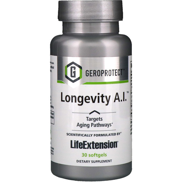Life Extension, Geroprotect, Longevity A.I., 30 gélules