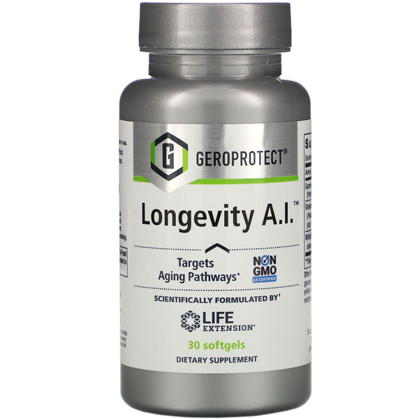Life Extension, GEROPROTECT Longevity A.I., 30 Softgels
