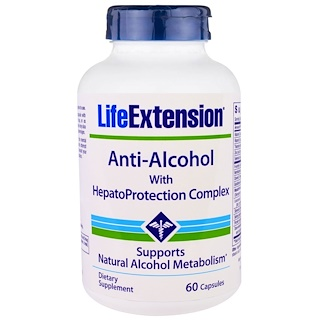 Life Extension, Anti-Alcohol with HepatoProtection Complex, 60 Capsules