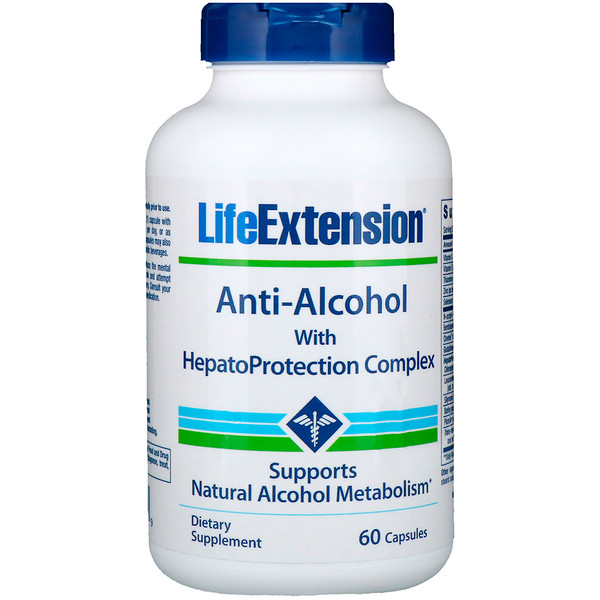 Life Extension, Anti-Alcohol with HepatoProtection Complex, 60 Capsules (Discontinued Item)