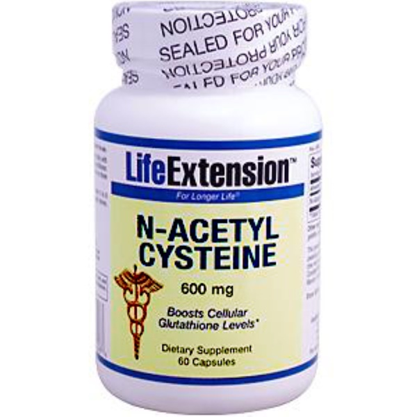 Life Extension, N-Acetyl Cysteine, 600 mg, 60 Capsules (Discontinued Item)