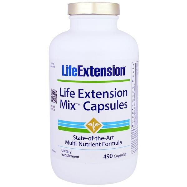 Life Extension, Life Extension Mix Capsules, 490 Capsules (Discontinued Item)