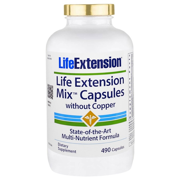 Life Extension, Mix Capsules without Copper, 490 Capsules (Discontinued Item)