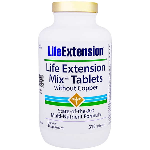 Life Extension, Mix Tablets without Copper, 315 Tablets (Discontinued Item)