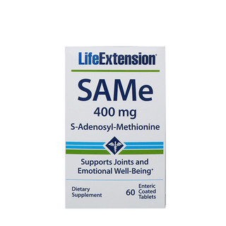 Life Extension, SAMe, S-Adenosyl-Methionine, 400 mg, 60 Enteric Coated Tablets