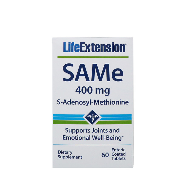 SAMe, S-Adenosyl-Methionine, 400 mg, 60 Enteric Coated Tablets