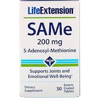 SAMe, S-Adenosyl-Methionine, 200 mg, 30 Enteric Coated Tablets - фото