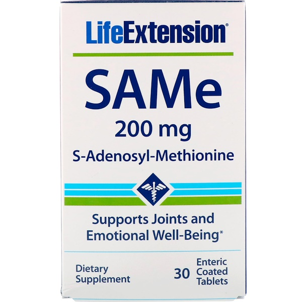 SAMe, S-Adenosyl-Methionine, 200 mg, 30 Enteric Coated Tablets