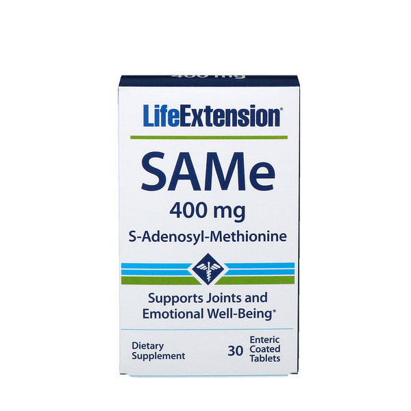 Life Extension, SAMe،إس أدينوسيل_ميثيونين، 400 مجم، 30قرص بكسوة معوية