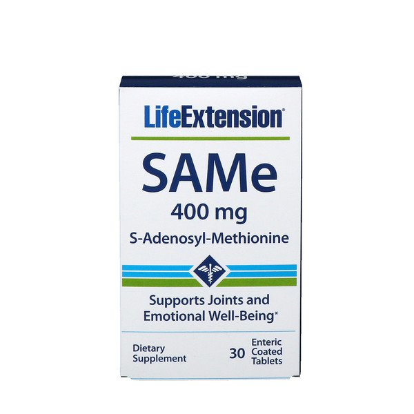 SAMe, S-Adenosyl-Methionine, 400 mg, 30 Enteric Coated Tablets