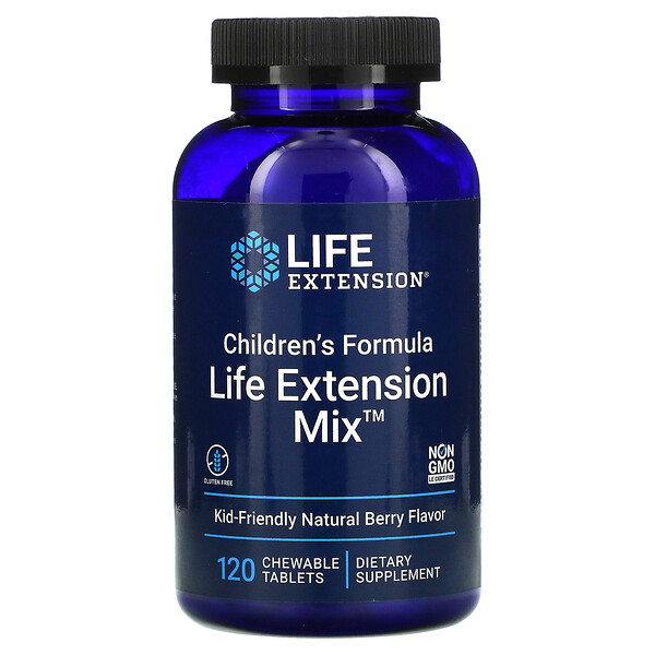 Life Extension, 儿童配方,Life Extension Mix,天然浆果味,120片咀嚼片