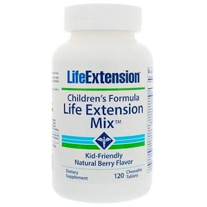 Life Extension, Детская формула, Смесь Life Extension, вкус натуральных ягод, 120 жевательных таблеток инструкция, применение, состав, противопоказания
