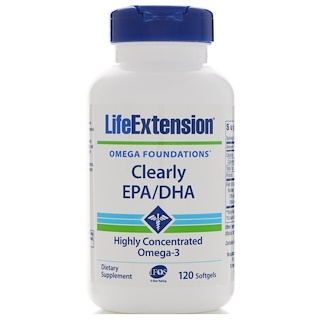 Life Extension, Clearly EPA/DHA, 120 Softgels