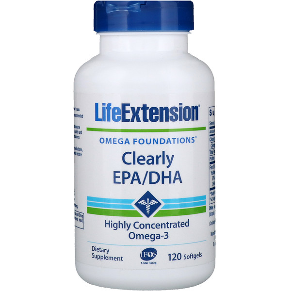Life Extension, Clearly EPA/DHA, 120 Softgels (Discontinued Item)