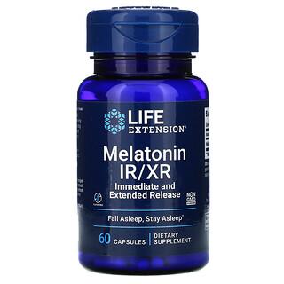 Life Extension, メラトニンIR/XR、60粒