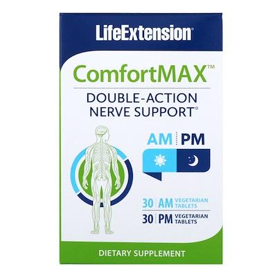 Купить ComfortMax, Поддержка нервной системы двойного действия, Для утреннего и вечернего времени суток, 30 вегетарианских таблеток для каждого приема