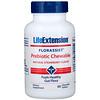 Life Extension, フローラシスト、プレバイオティック・チュアブル、天然ストロベリー味、60チュアブル錠