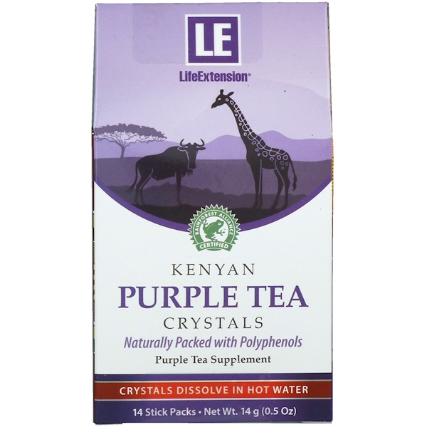 Life Extension, Kenyan Purple Tea Crystals, 14 Stick Packs (Discontinued Item)