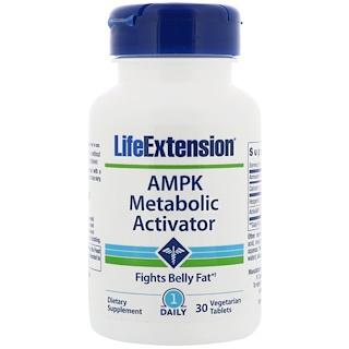 Life Extension, AMPKメタボリックアクティベーター、30ベジタリアンタブレット