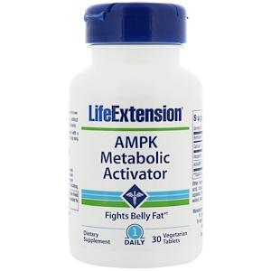 Life Extension, AMPK, активатор метаболизма, 30 вегетарианский таблеток инструкция, применение, состав, противопоказания