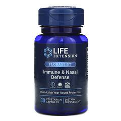 Life Extension, FLORASSIST 抵抗和鼻部健康防禦,30 粒素食膠囊