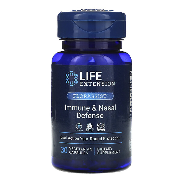 Life Extension, FLORASSIST Immune & Nasal Defense, 30 Vegetarian Capsules