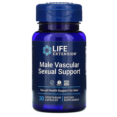 Life Extension Male Vascular Sexual Support, 30 Vegetarian Capsules