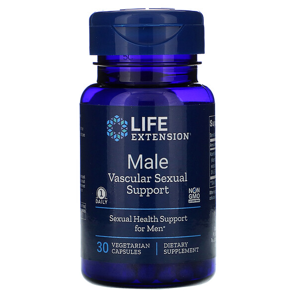 Male Vascular Sexual Support, 30 Vegetarian Capsules