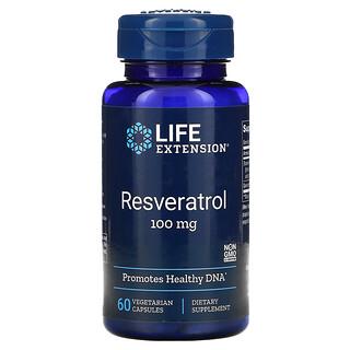 Life Extension, 白藜蘆醇,100 毫克,60 粒素食膠囊