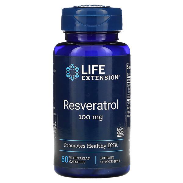 Resveratrol, 100 mg, 60 Vegetarian Capsules